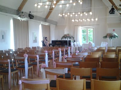 wedding in the concert hall