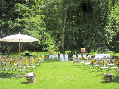 marriage dans le parc